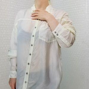 Pete & Greta Janson silk oversized button-up